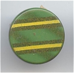 Striped Green Celluloid Button