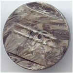 Molded Grey Lucite Button