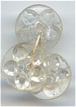 3 Vintage Clear Plastic Molded Flower Buttons