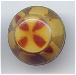 Neat Stenciled Design Celluloid Button