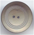 Large One Piece Silvery Grey Celluloid Button