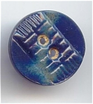 Small Two Piece Blue Celluloid Button