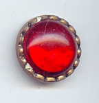 Red Lucite Jewel Button