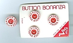 Set Of 9 Mint 1776 Red/white Plastic Buttons
