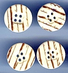 Set Of 5 Older Birch Look Lucite Buttons