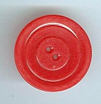 1 5/16ths Antique Red Celluloid Button