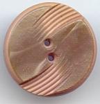 Carved Beige Bakelite Button