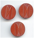Rust Red Art Deco Bakelite Button