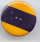 Gold And Black Striped Bakelite Button