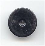 Carved Edge Black Bakelite Button