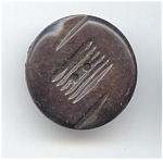Carved Black Bakelite Button
