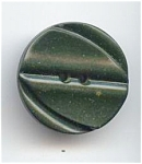 Art Deco Design Forest Green Bakelite Button