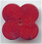Red Flower Shaped Bakelite Button