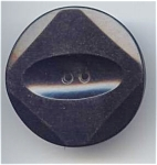 Black Bakelite Retro Modern Button