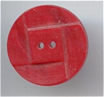 Large Carved Red Bakelite Button