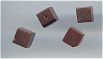 4 Brown Bakelite Cube Shaped Buttons