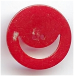Bakelite Happy Face Button