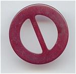 Round Red Bakelite Buckle