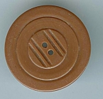 Large Brown Carved Bakelite Button