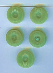 Lot Of 5 Matched Green Bakelite Buttons