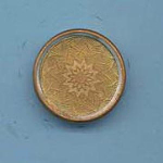 Lightly Embossed Brass Button