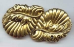 Gorgeous Big Gilt Metal Buckle