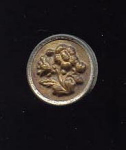 11/16ths Stamped Brass Flower Button