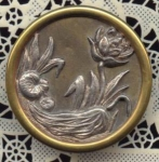 1 5/8ths Inch Water Lily Button
