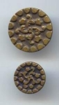 Mother/ Daughter Pair Vintage Brass Buttons