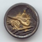1 3/8ths Inch Brass Pheasants Picture Button