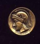 1 Piece Metal Roman Head Button
