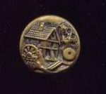Olde Grist Mill Brass Button