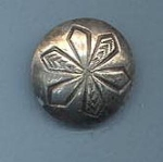 Silver Domed Snowflake Button