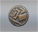 Art Deco Abstract Design Brass Button