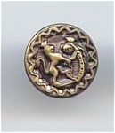Lion & Armour Brass Button