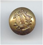 2 Piece Stamped Brass Lyre Button