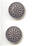 2 Silver Filigree Buttons