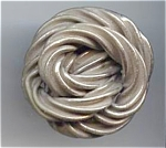 Big Silver Twisted Knot Button