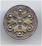1 1/4 Inch Stamped Brass Button