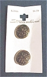 Mint On Card Ethnic Look Metal Buttons
