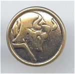 Metal Taurus The Bull Zodiac Button