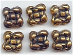 Set Of 6 - 1 Piece Brass Knot Buttons