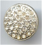 1 1/16th Inch Silvery Rhinestone Button