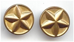 2 Two Piece Metal Star Buttons