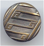 Art Deco Design Two Piece Brass Button