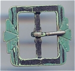 Art Deco Painted Metal Buckle