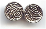 Modern Fingerprint Design Silver Metal Buttons