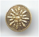 Vintage 1 Piece Metal Sunburst Button