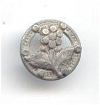 Vintage Silver Metal Floral Button