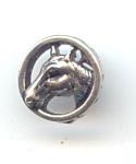 1960's 1 Piece Metal Horse Button